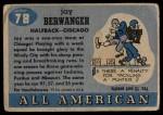 1955 Topps #78  Jay Berwanger  Back Thumbnail