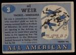 1955 Topps #3  Ed Weir  Back Thumbnail