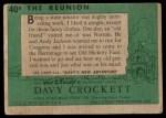 1956 Topps Davy Crockett #40 GRN  The Reunion  Back Thumbnail