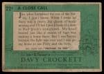 1956 Topps Davy Crockett #22 GRN  A Close Call  Back Thumbnail