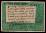1956 Topps Davy Crockett #6 GRN  You're Wrong Back Thumbnail