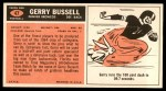 1965 Topps #47  Gerry Bussell  Back Thumbnail