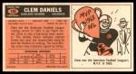 1965 Topps #136  Clem Daniels  Back Thumbnail