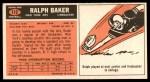 1965 Topps #112  Ralph Baker  Back Thumbnail