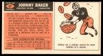 1965 Topps #67  John Baker  Back Thumbnail