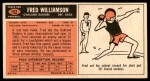 1965 Topps #152  Fred Williamson  Back Thumbnail