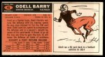 1965 Topps #45  Odell Barry  Back Thumbnail