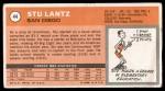1970 Topps #44  Stu Lantz   Back Thumbnail
