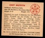 1950 Bowman #114  Chet Mutryn  Back Thumbnail