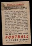 1951 Bowman #56  Charley Conerly  Back Thumbnail