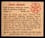 1950 Bowman #20  Jerry Nuzum  Back Thumbnail