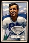 1951 Bowman #9  Barney Poole  Front Thumbnail