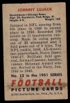 1951 Bowman #15  John Lujack  Back Thumbnail