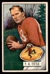 1951 Bowman #32  Y.A. Tittle  Front Thumbnail