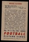 1951 Bowman #79  Bruce Alford  Back Thumbnail