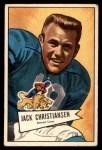 1952 Bowman Small #129  Jack Christiansen  Front Thumbnail