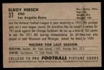 1952 Bowman Small #37  Elroy Hirsch  Back Thumbnail