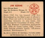 1950 Bowman #99  Jim Keane  Back Thumbnail
