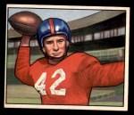 1950 Bowman #103  Charley Conerly  Front Thumbnail