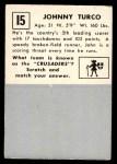 1951 Topps Magic #15  Johnny Turco  Back Thumbnail