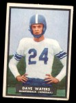 1951 Topps Magic #58  Dave Waters  Front Thumbnail