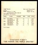 1965 Kahn's  Sammy Ellis  Back Thumbnail