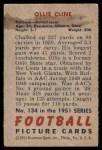 1951 Bowman #134  Ollie Cline  Back Thumbnail