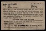 1952 Bowman Small #77  Dan Edwards  Back Thumbnail
