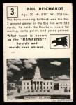 1951 Topps Magic #3  Bill Reichardt  Back Thumbnail