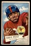 1952 Bowman Small #123  Eddie Price  Front Thumbnail