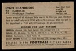 1952 Bowman Small #20  Lynn Chandnois  Back Thumbnail