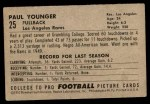 1952 Bowman Small #25  Paul Tank Younger  Back Thumbnail