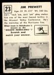 1951 Topps Magic #23  Jim Prewett  Back Thumbnail