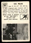 1951 Topps Magic #57  Vic Pujo  Back Thumbnail