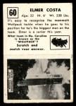 1951 Topps Magic #60  Elmer Costa  Back Thumbnail