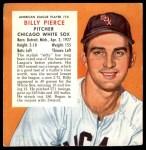 1954 Red Man #10 AL x Billy Pierce  Front Thumbnail