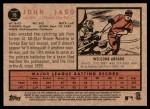2011 Topps Heritage #16  John Jaso  Back Thumbnail
