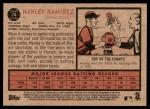 2011 Topps Heritage #74  Hanley Ramirez  Back Thumbnail