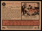 2011 Topps Heritage #84  Denard Span  Back Thumbnail