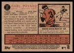 2011 Topps Heritage #21  Carl Pavano  Back Thumbnail