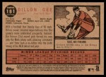 2011 Topps Heritage #181  Dillon Gee  Back Thumbnail