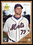 2011 Topps Heritage #181  Dillon Gee  Front Thumbnail