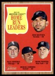 2011 Topps Heritage #53   -  Jose Bautista / Paul Konerko / Miguel Cabrera / Mark Teixeira AL HR League Leaders Front Thumbnail