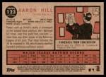 2011 Topps Heritage #123  Aaron Hill  Back Thumbnail