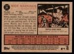 2011 Topps Heritage #64  Nick Markakis  Back Thumbnail