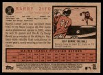2011 Topps Heritage #33  Barry Zito  Back Thumbnail