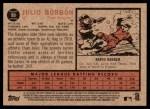 2011 Topps Heritage #90  Julio Borbon  Back Thumbnail