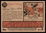2011 Topps Heritage #194  Jordan Walden  Back Thumbnail
