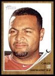 2011 Topps Heritage #23  Carlos Lee  Front Thumbnail