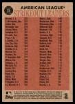 2011 Topps Heritage #59   -  Jered Weaver / Felix Hernandez / Jon Lester / Justin Verlander AL K League Leaders Back Thumbnail